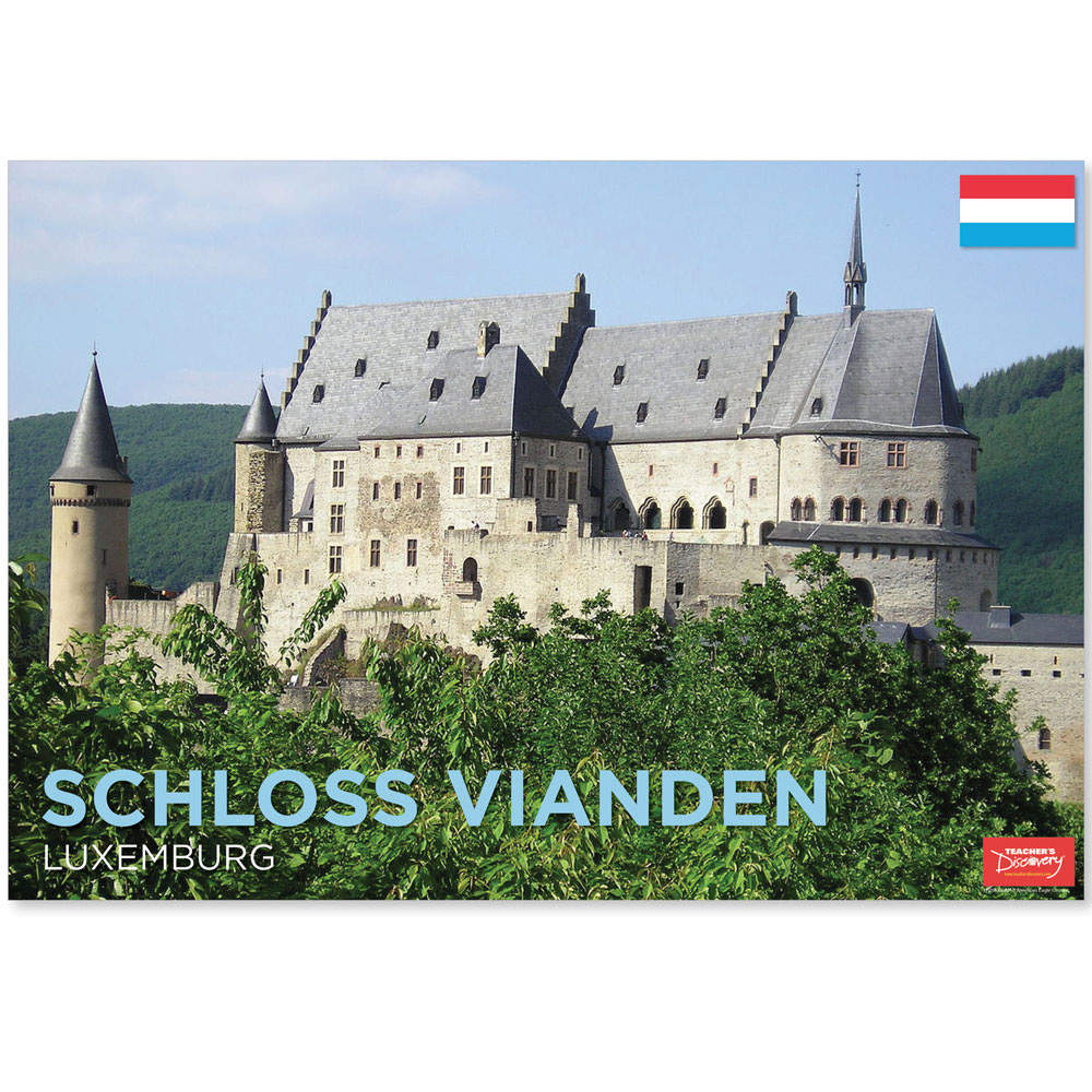 Schloss Vianden Luxemburg Travel Mini-Poster