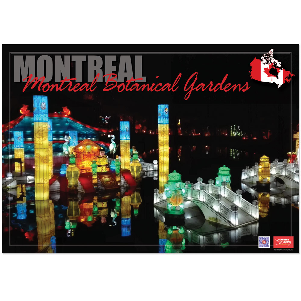 Montreal Botanical Gardens Enhanced™ French Travel Poster