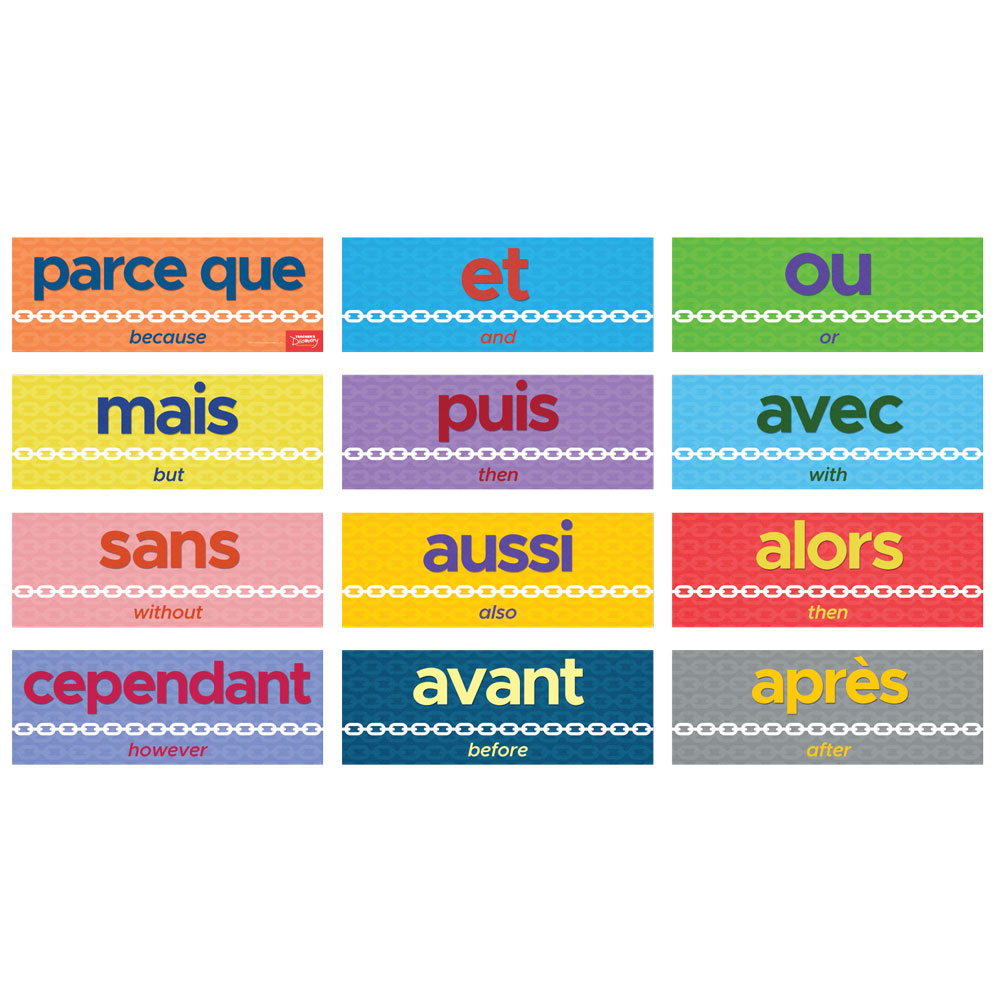 Connecting Words French Sign Set