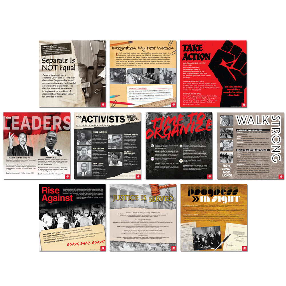 Civil Rights Movement Mini-Poster Set