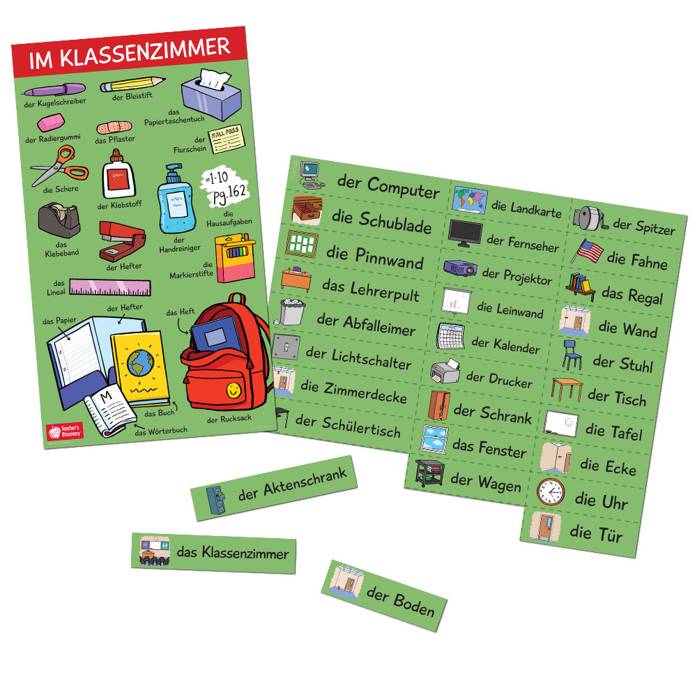 Classroom Nouns German Set