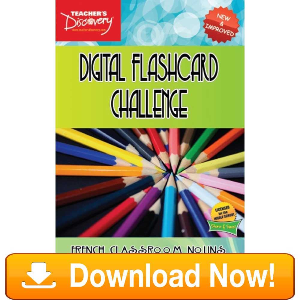 French Digital Flashcard Challenge Promethean Classroom Download