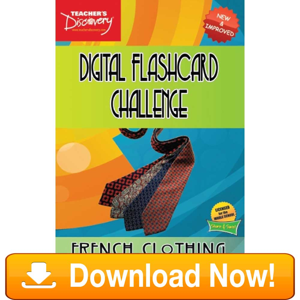 French Digital Flashcard Challenge Promethean Clothing Download