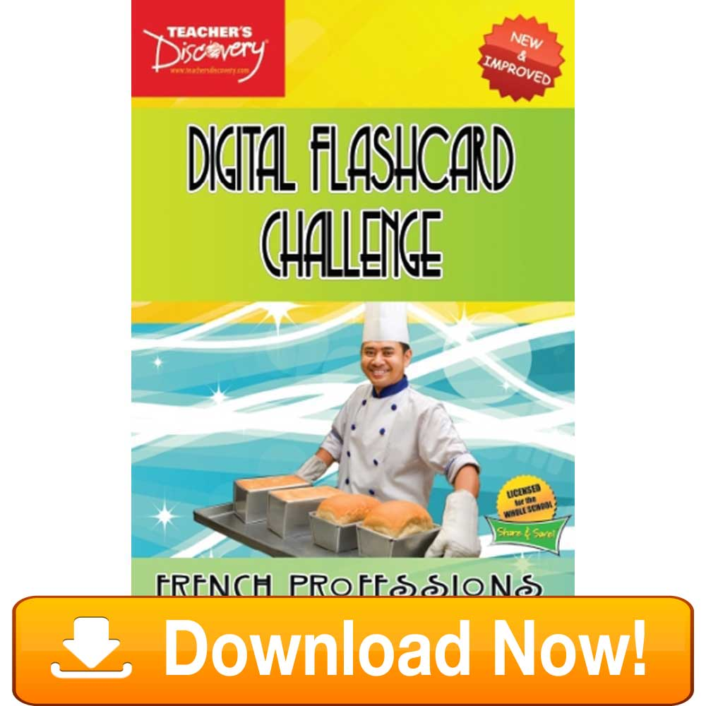 French Digital Flashcard Challenge Promethean Professions Download