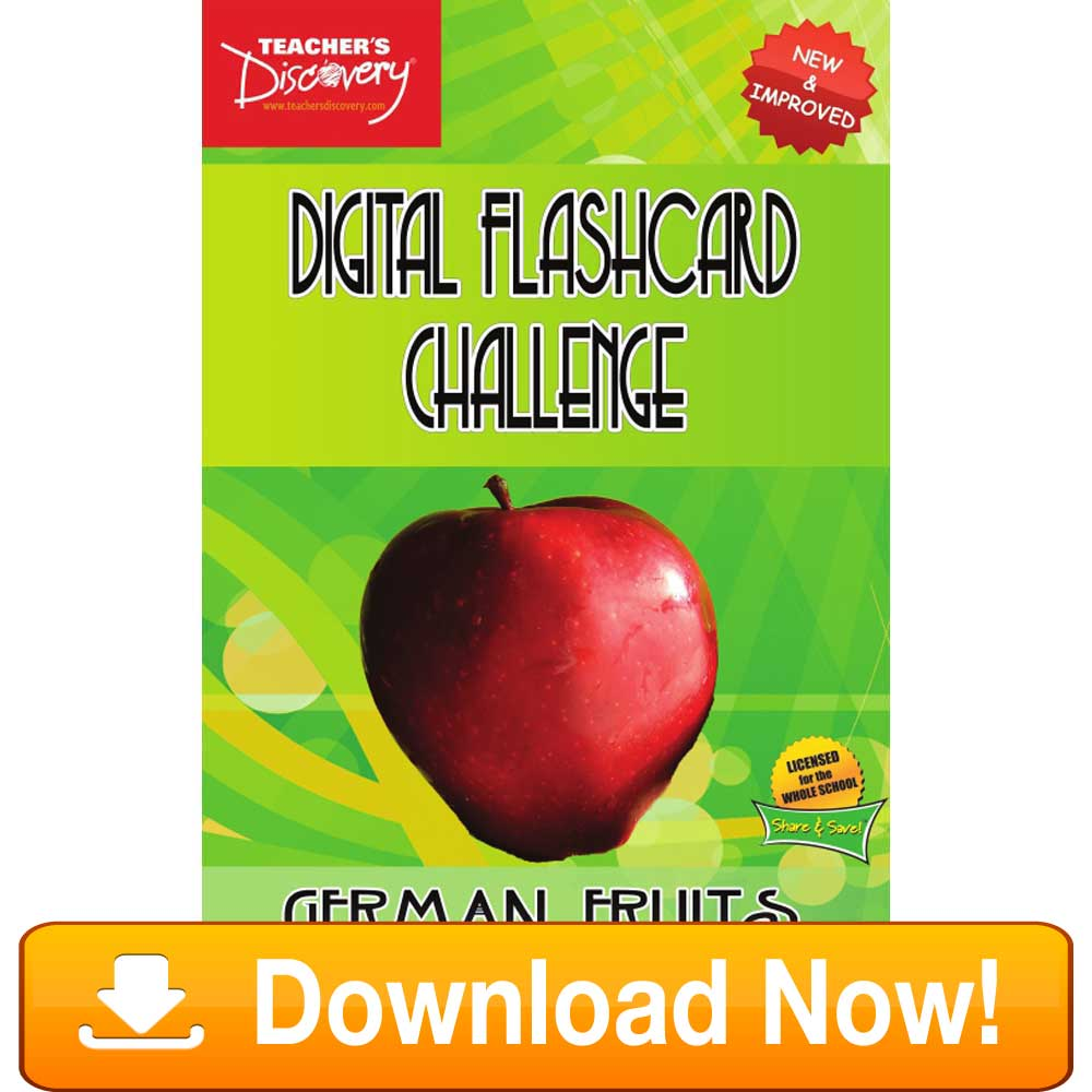 German Digital Flashcard Challenge Promethean Fruits Download