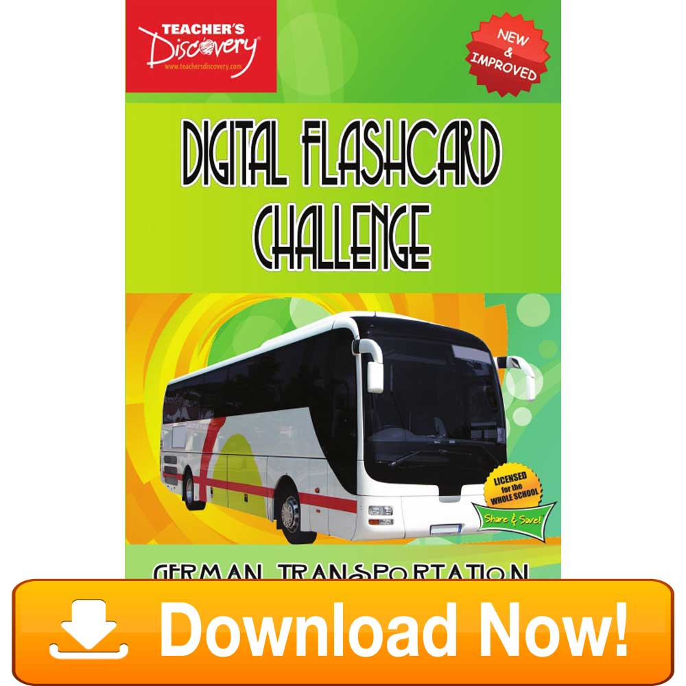 German Digital Flashcard Challenge Promethean Transportation Download