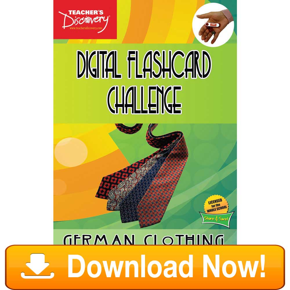 German Digital Flashcard Challenge Promethean Clothing Download