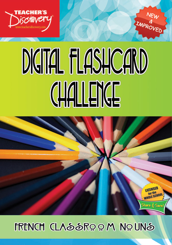 Digital Flashcard Challenge Game French Classroom Nouns