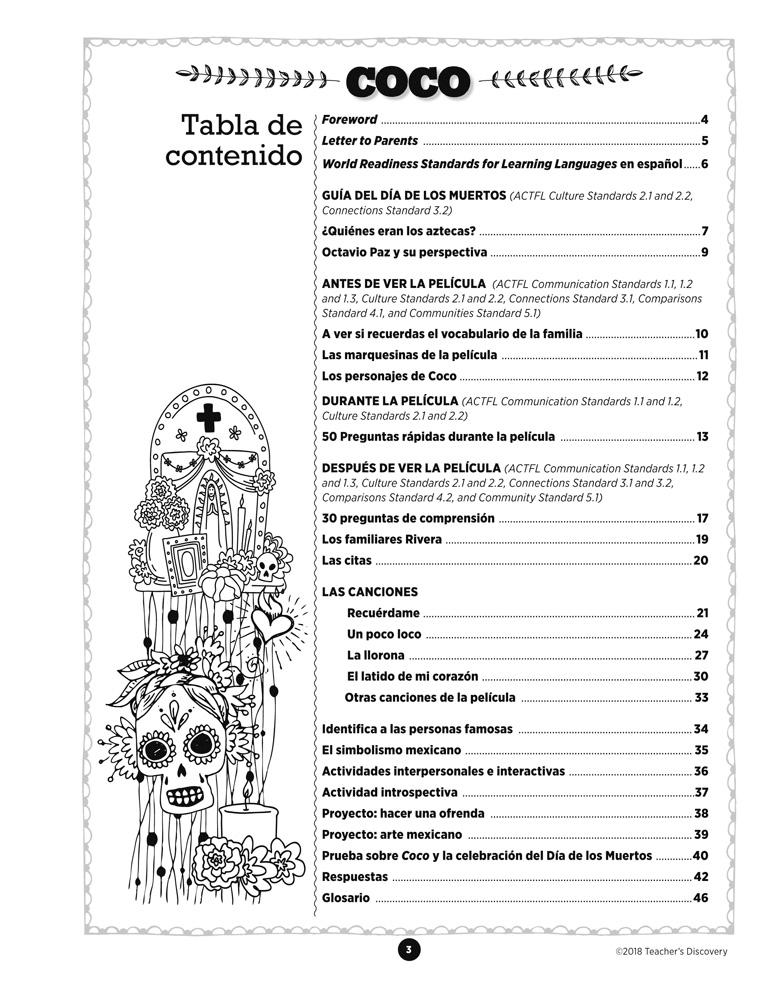 Coco Spanish Movie Resource Book Spanish Teacher S Discovery