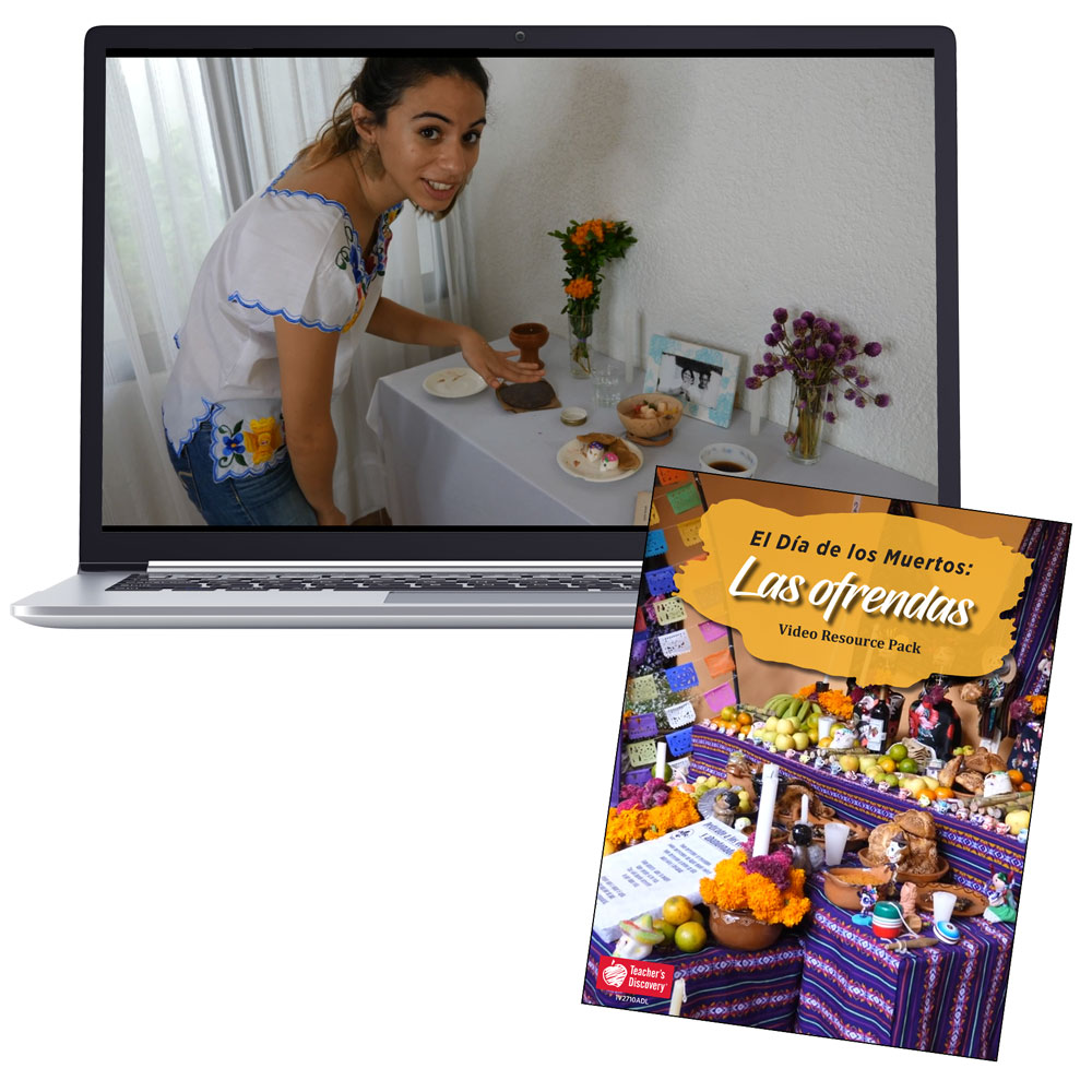 Las ofrendas: El Día de los Muertos Videos and Resource Pack - DIGITAL RESOURCE DOWNLOAD  - Hybrid Learning Resource