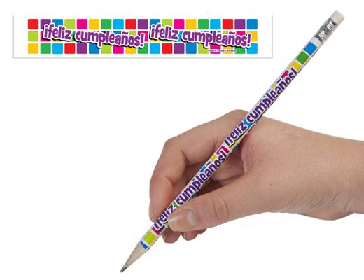 Spanish Birthday Pencils