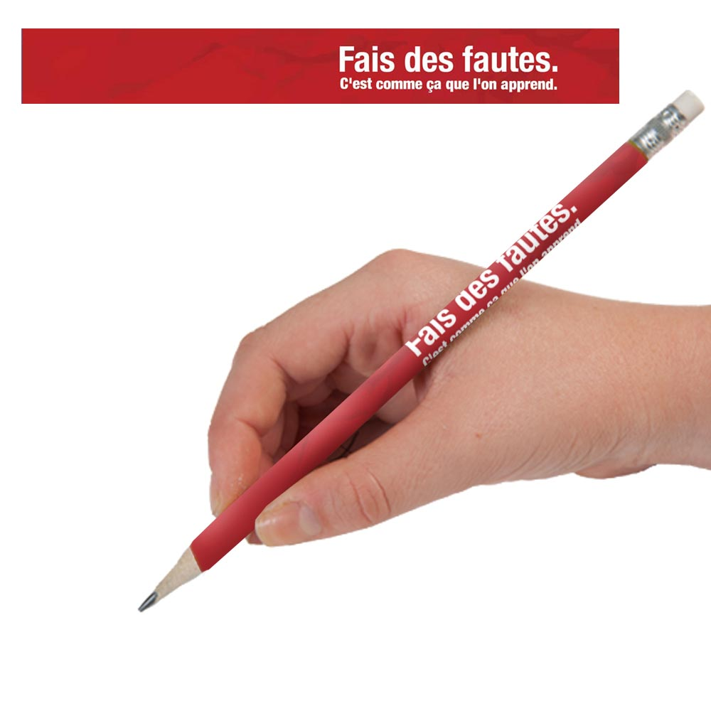 Make Mistakes French Enhanced™ Pencils - One Dozen (12)