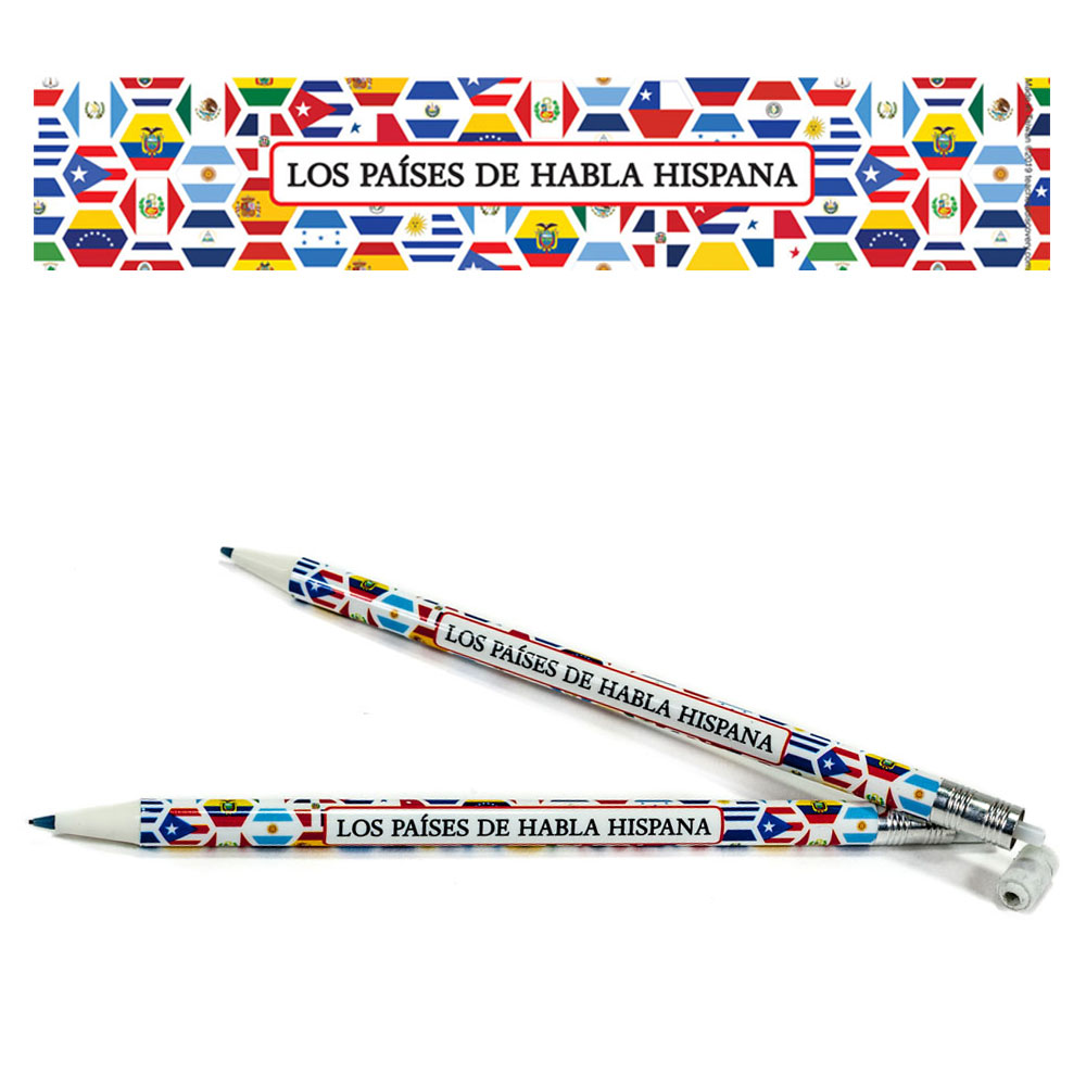 Spanish Flags Mechanical Enhanced™ Pencils - One Dozen