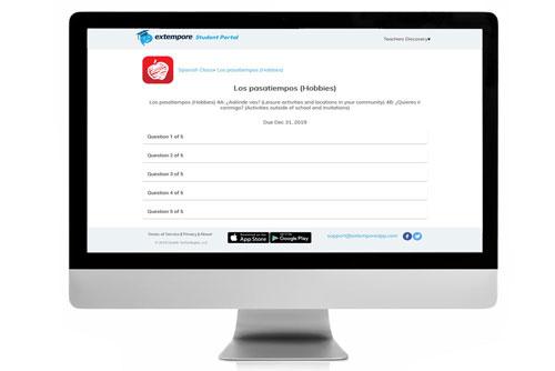 Los pasatiempos Oral Assessment for Extempore App