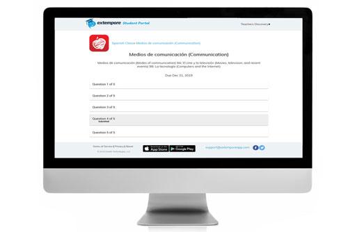 Medios de comunicación Oral Assessment for Extempore App