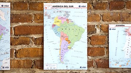 Spanish World Maps Mini-Poster Set, Spanish: Teacher\'s Discovery