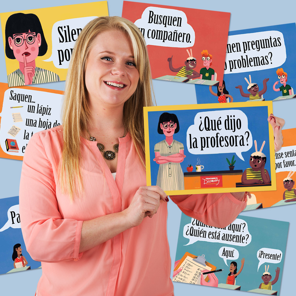 Teacher Says Spanish Mini-Poster Set
