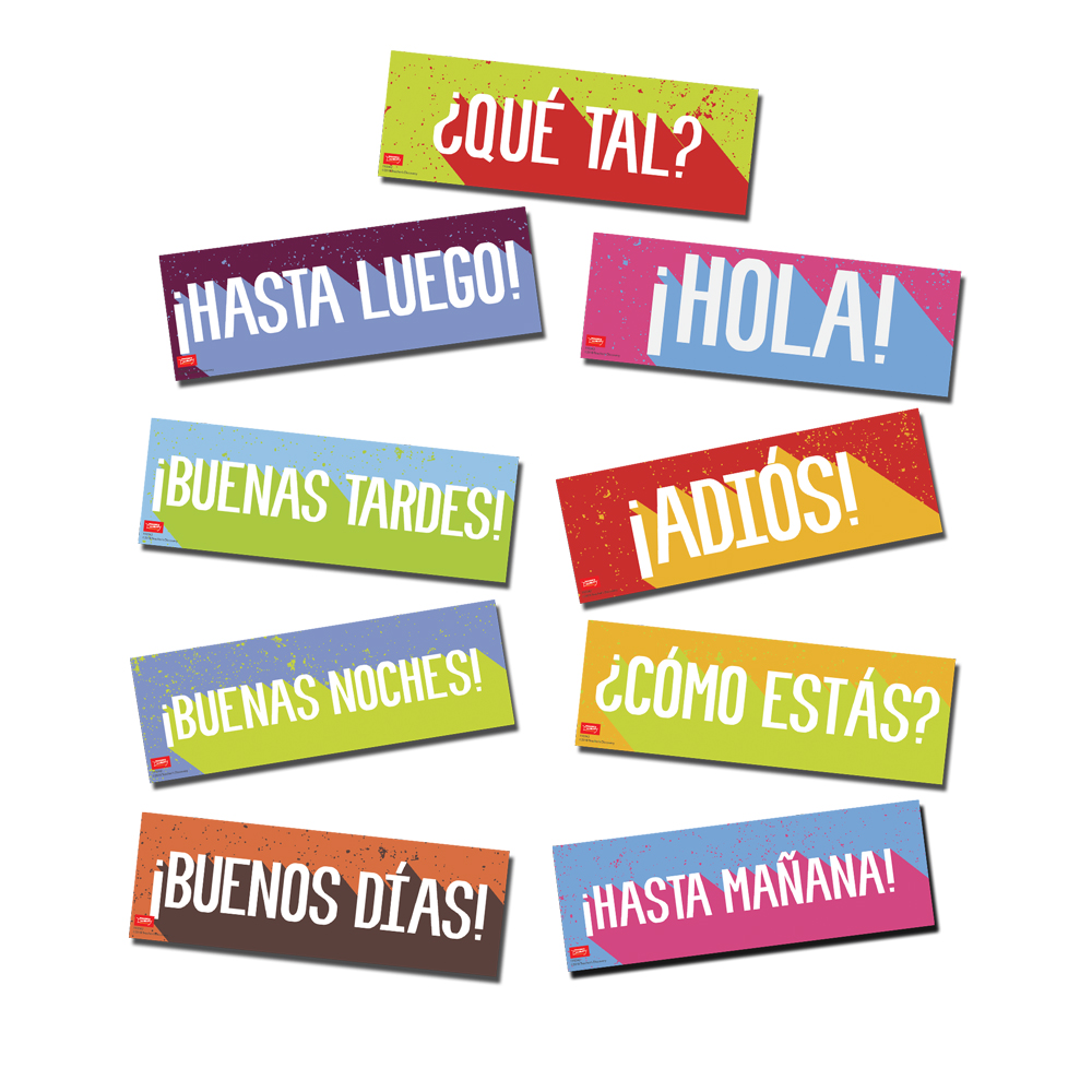 Greetings Spanish Signs Set