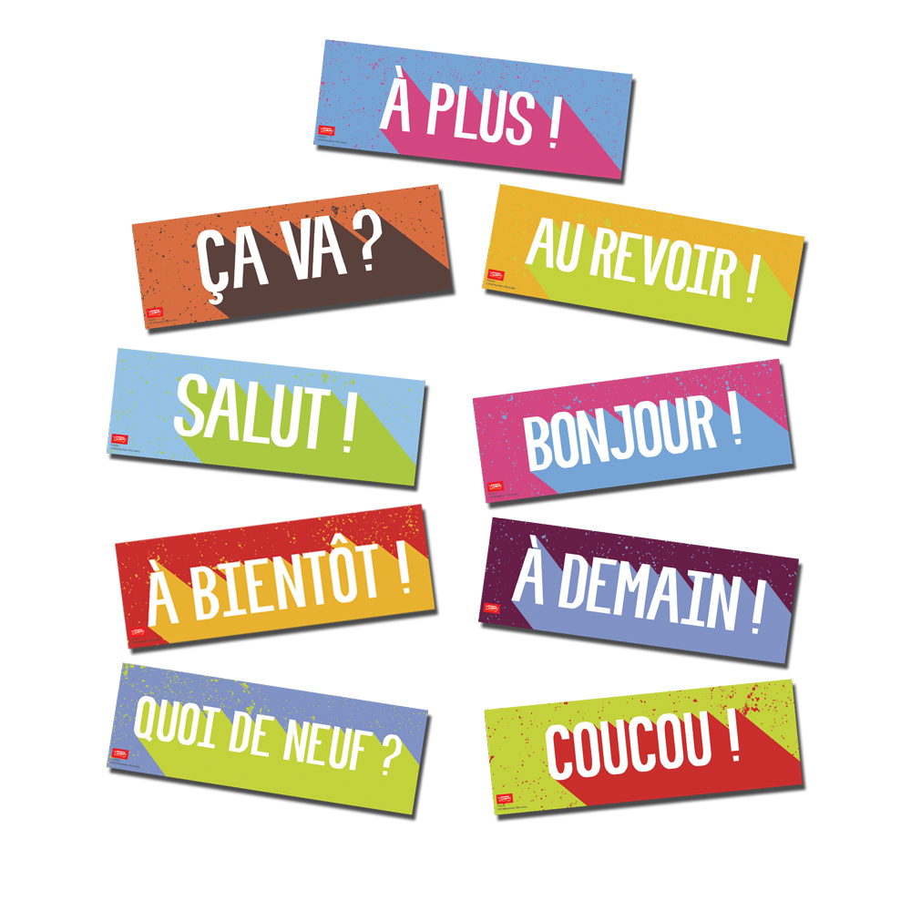 Greetings French Bulletin Board Set