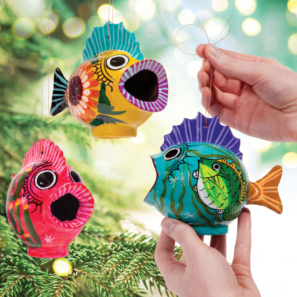 Wide-Mouth Fish Ornament