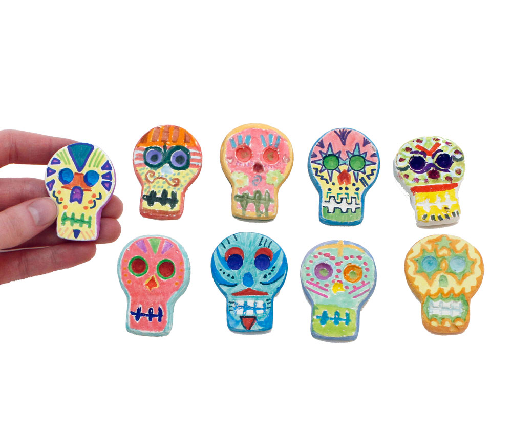 Day of the Dead Skull Magnet Kit