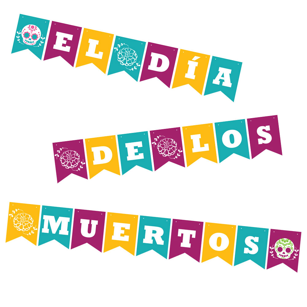 Day of the Dead Bunting Printable Download