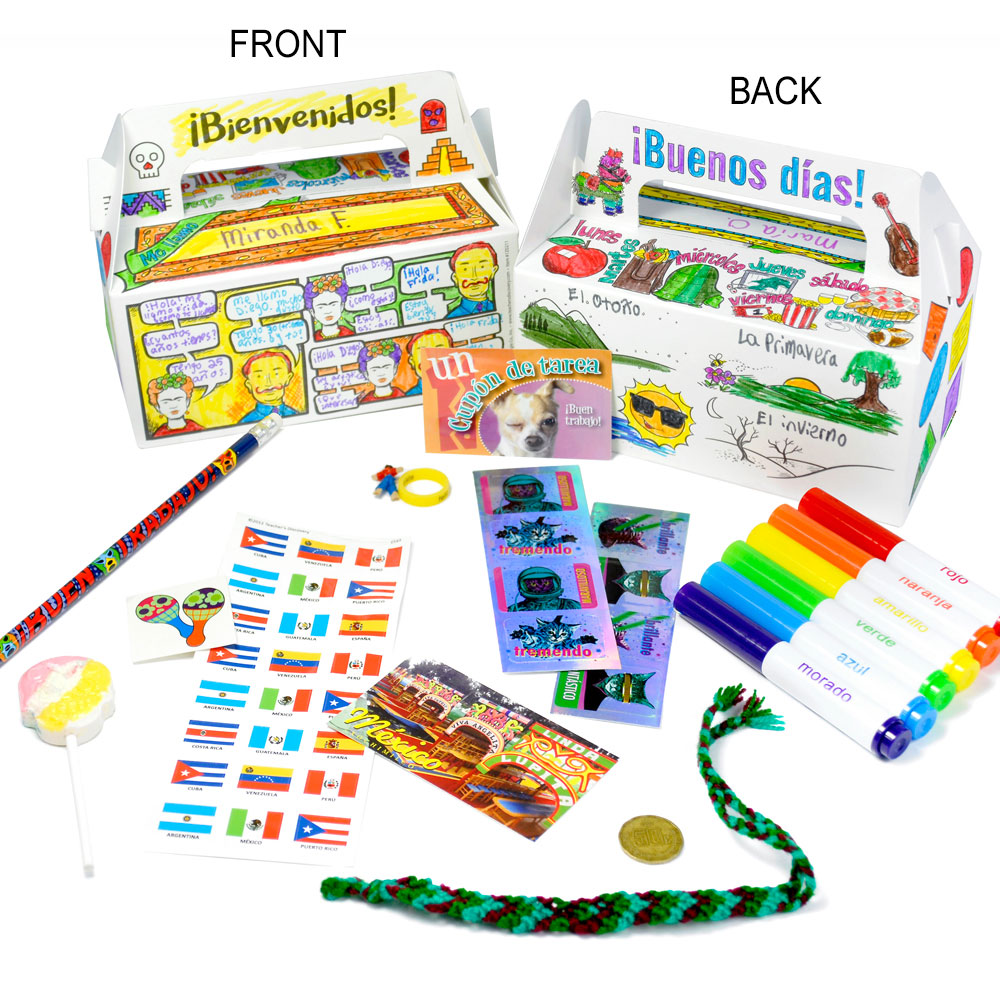 Welcome to Spanish Class Set of 30 Boxes with Goodies