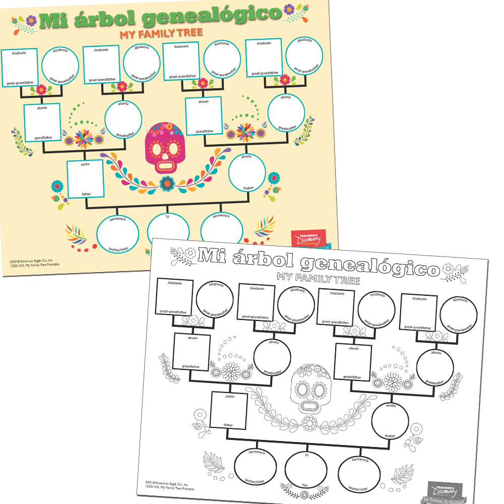 My Family Tree Spanish Printable Download Spanish Teacher S Discovery