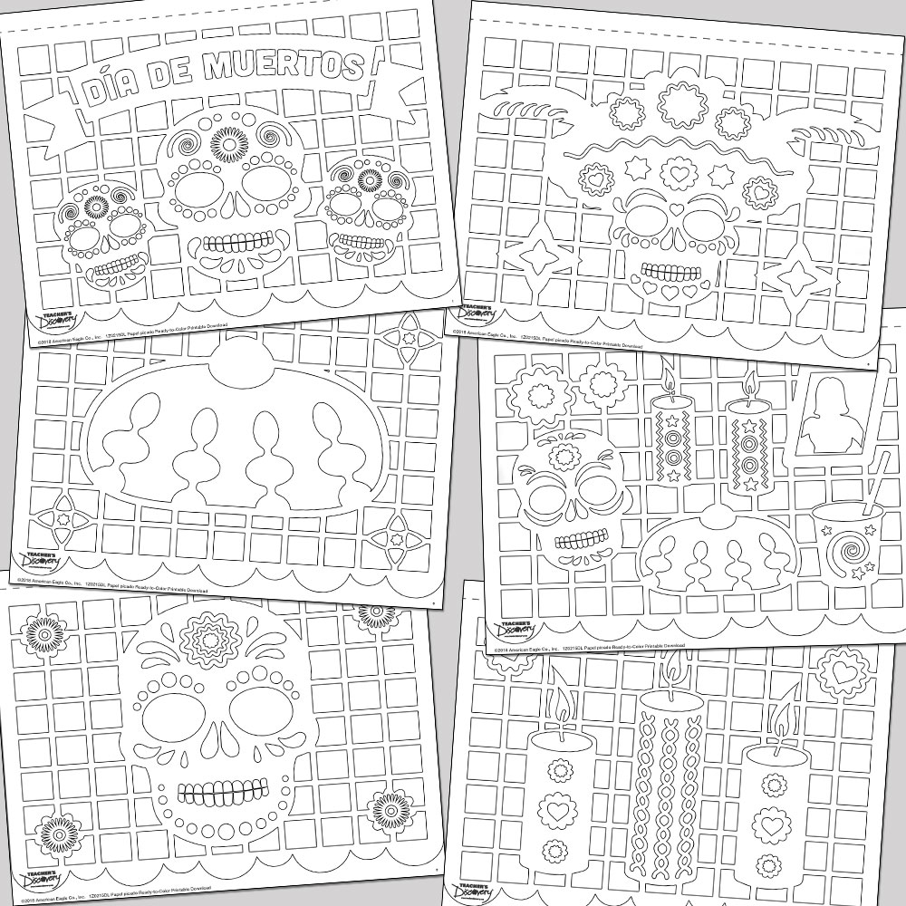 Selective image regarding papel picado printable