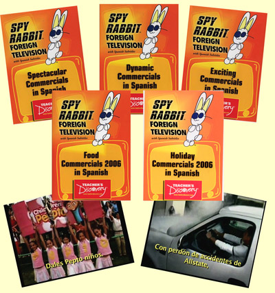 Commercials 2006 Set of 5 Spanish Spy Rabbit DVDs