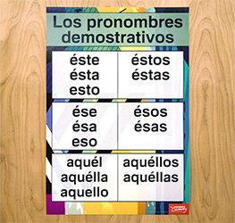 Demonstratives Spanish Charts (Set of 2)