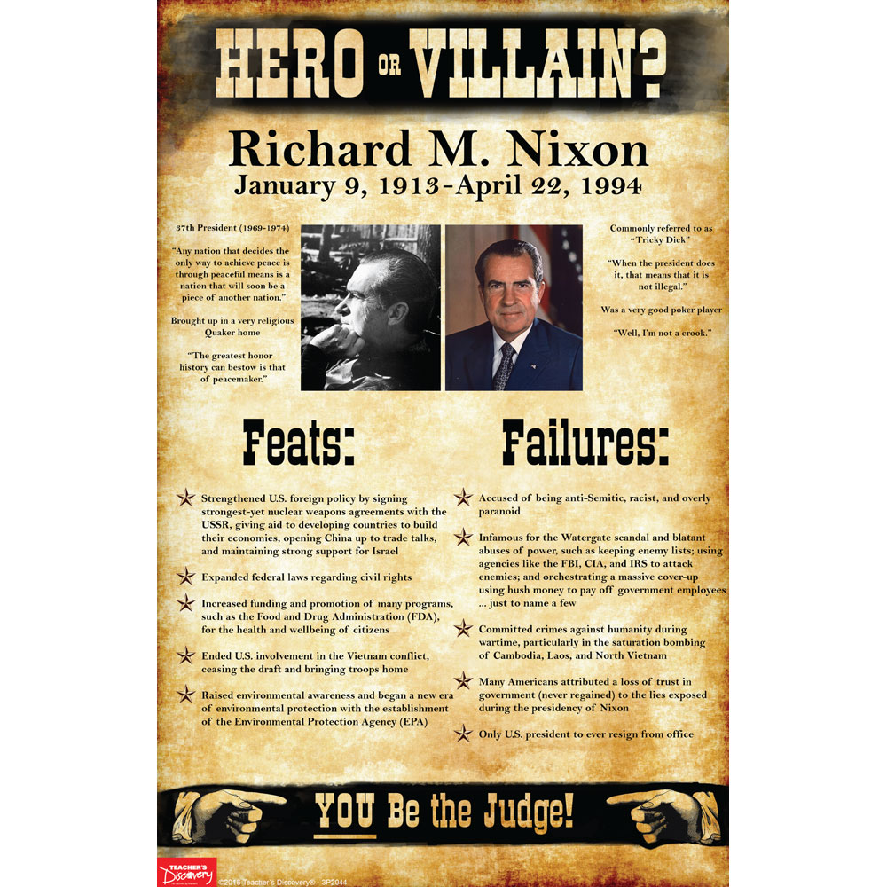 3p2044-richard-m-nixon-hero-or-villain-mini-poster