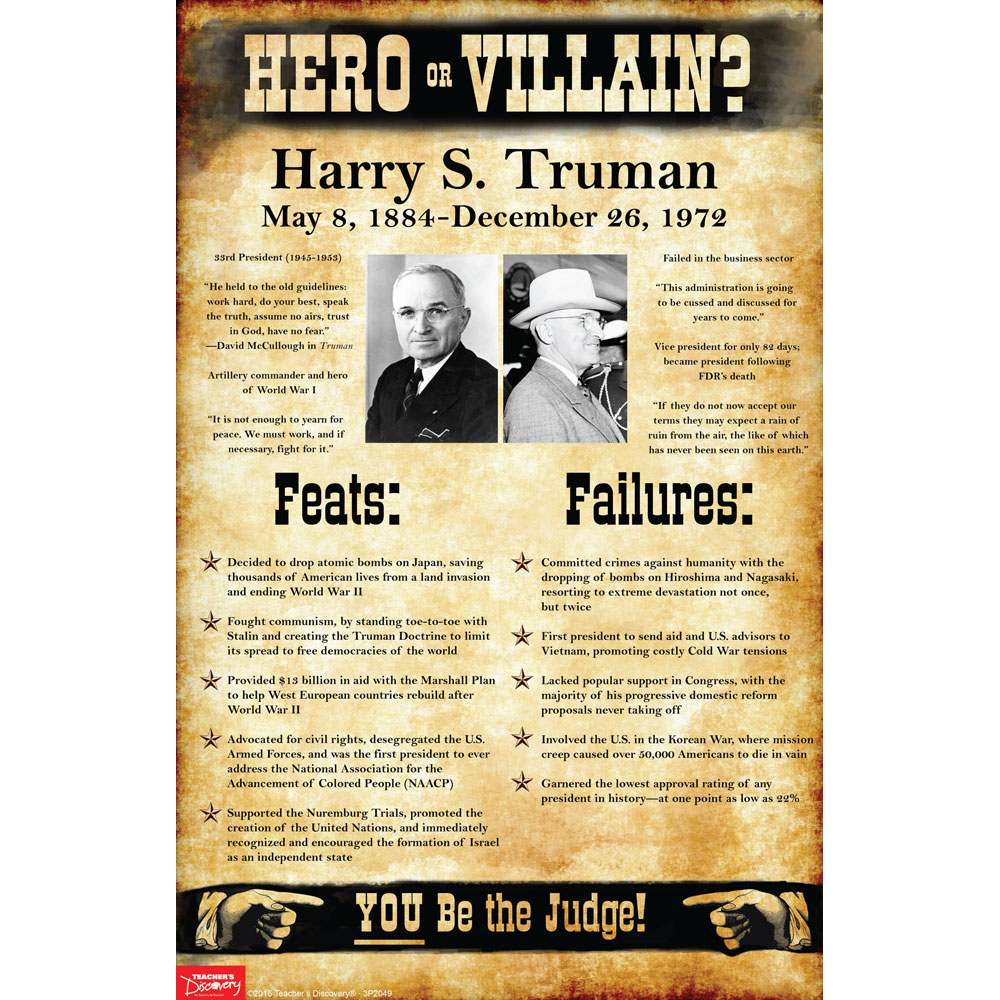 Harry S. Truman: Hero or Villain? Mini-Poster