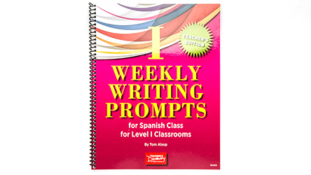 Weekly Writing Prompts for Spanish Level 1 Book