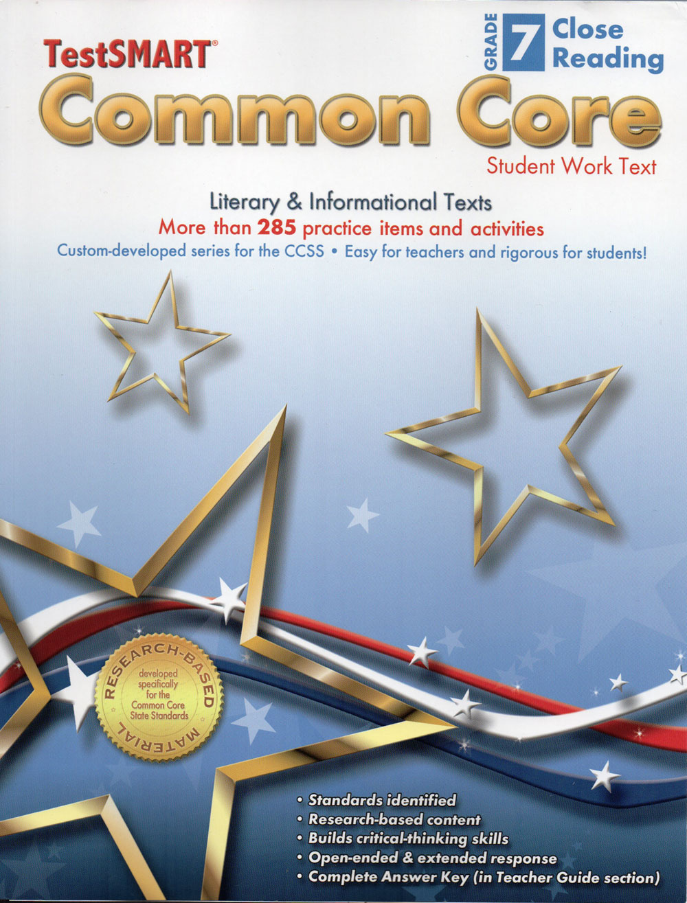 TestSMART® Common Core Close Reading Student Work Texts