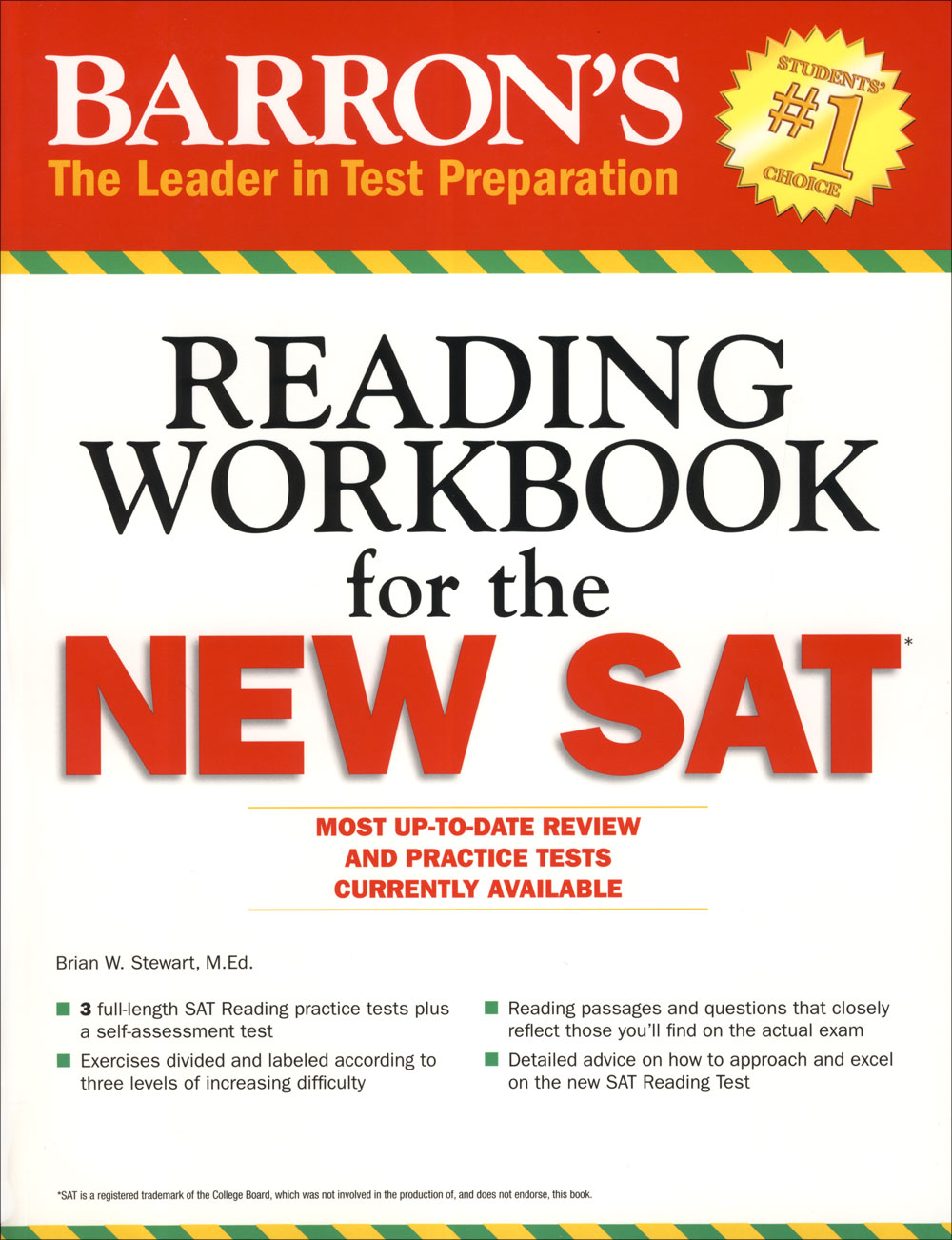 Barron's Reading Workbook for the New SAT®
