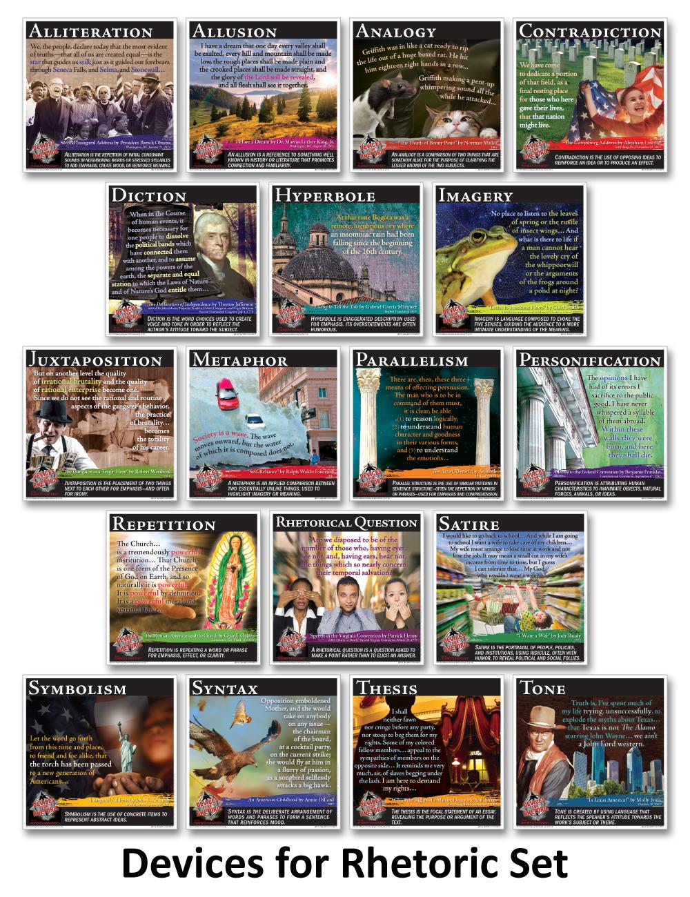 Novel Guide Devices for Rhetoric Mini-Posters
