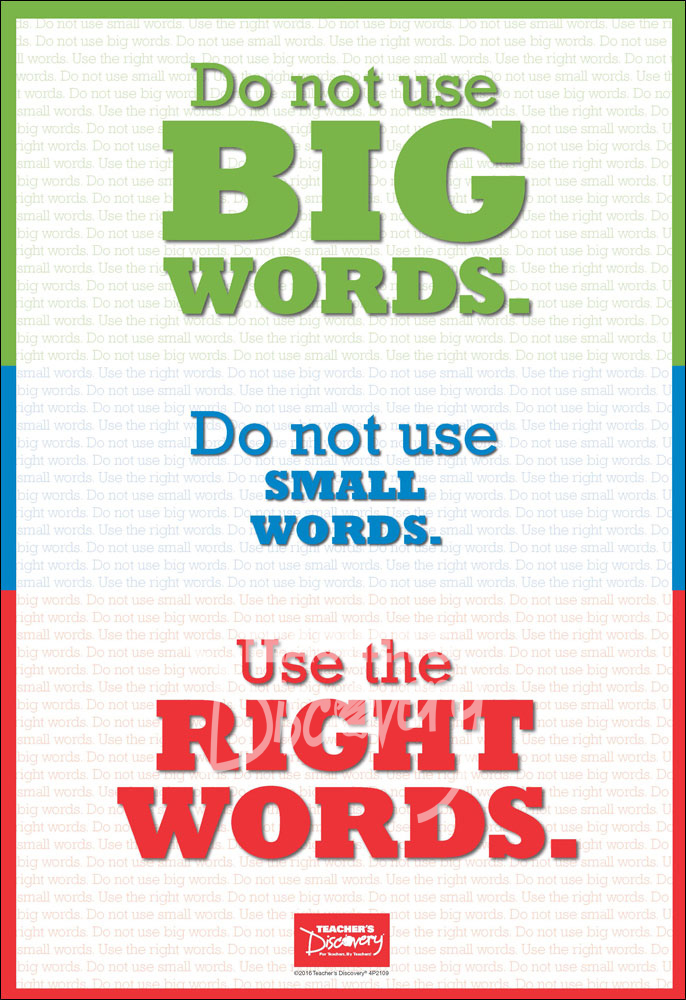 Use the Right Words Mini-Poster