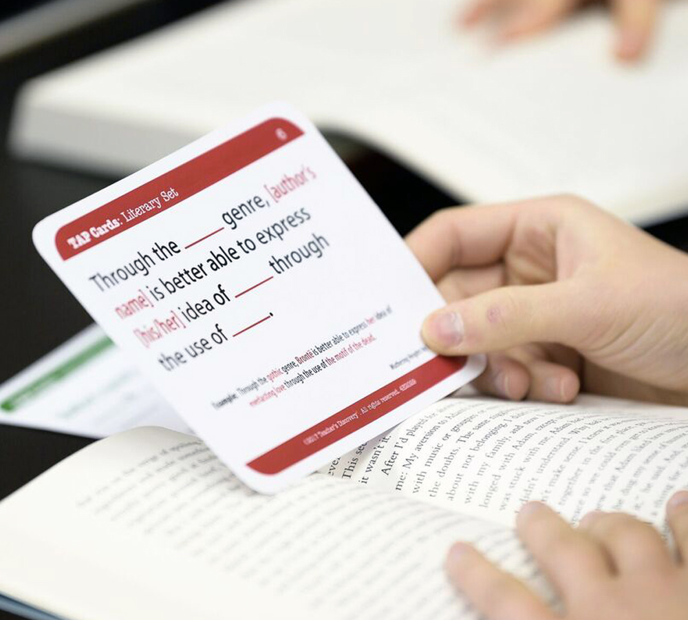 TAP Cards: Literary Text Card Set for High School
