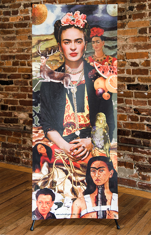 Frida Kahlo Stand-up (Vinyl Banner with X-Stand)