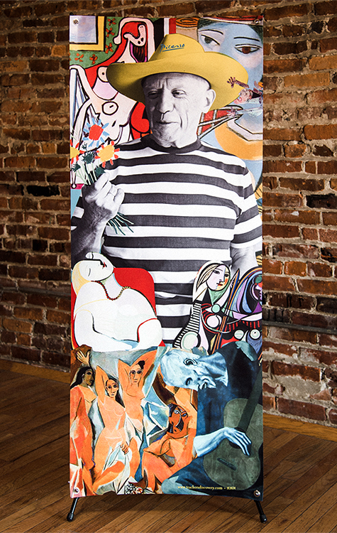 Pablo Picasso Stand-Up (Vinyl Banner with X-Stand)