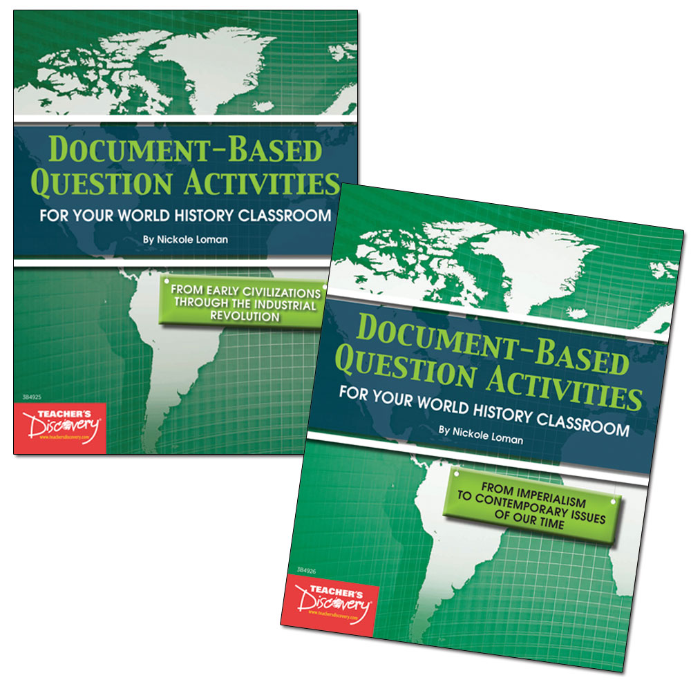 Document-Based Question Activities: World History Set of 2 Books ...