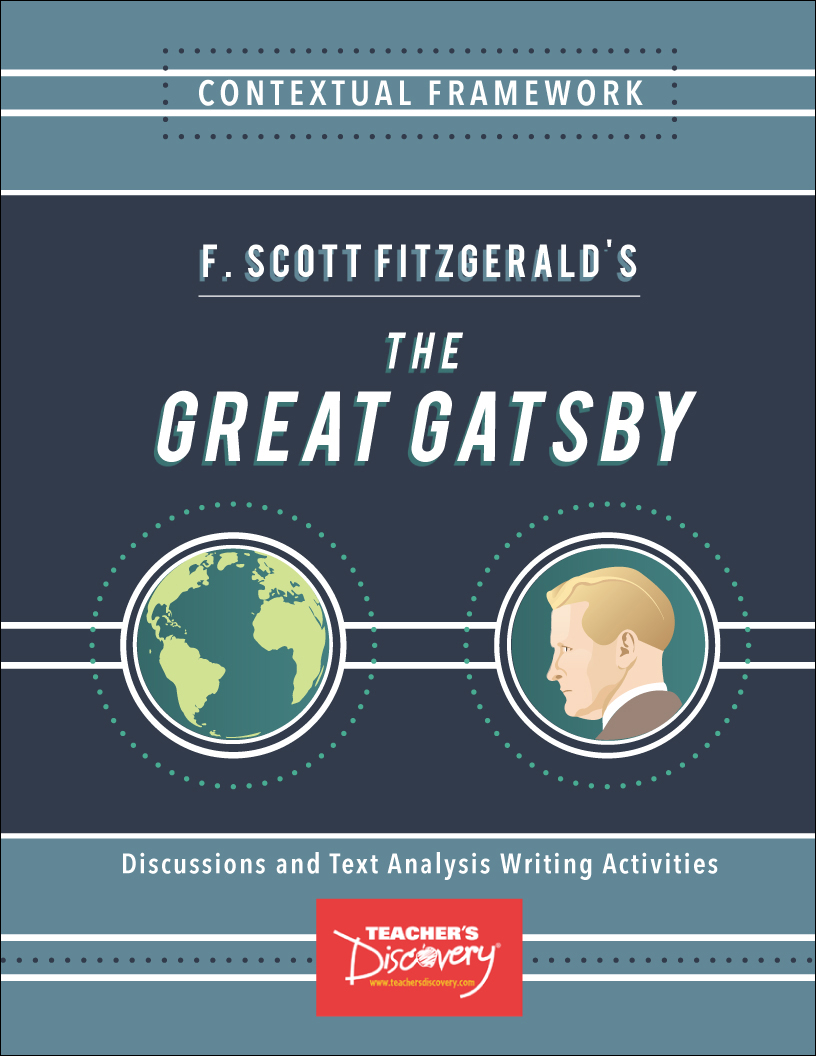 contextual study the great gatsby Any time students are required to write the great gatsby essay, the first (and the  most obvious) idea that occurs to them is to write about the american dream in.