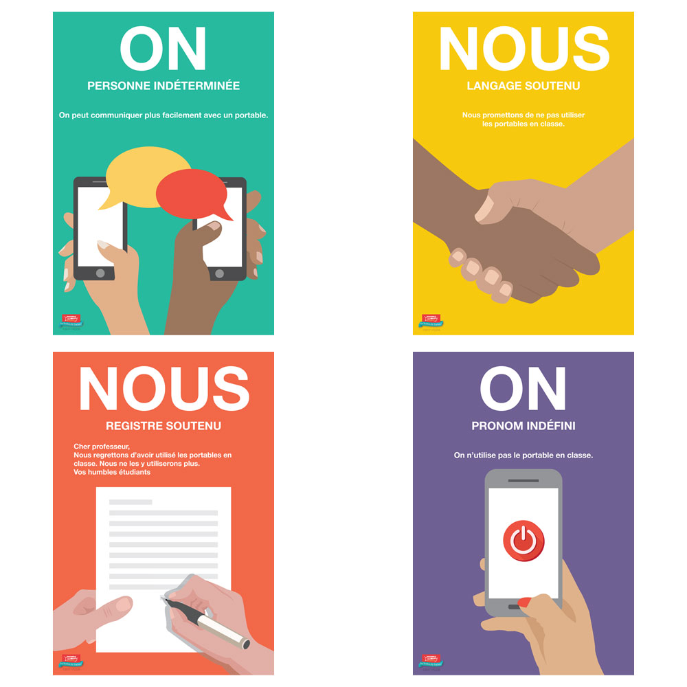 On ou nous ? French Mini-Poster Set