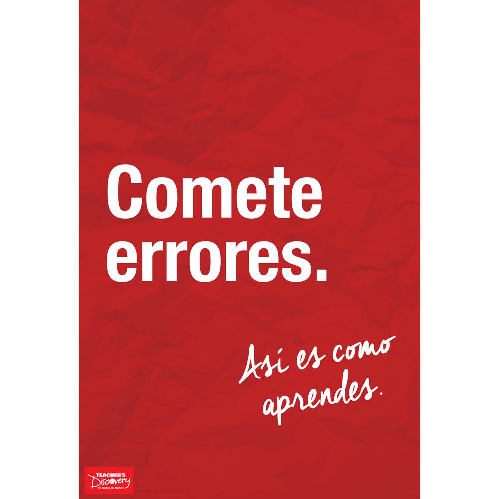 Make Mistakes Spanish Mini-Poster