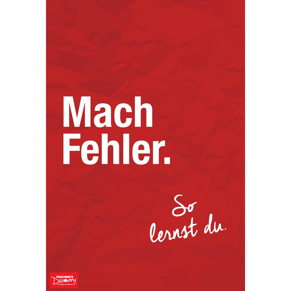 Make Mistakes German Mini-Poster