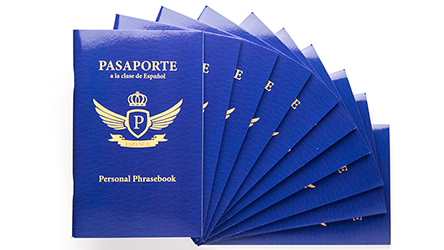 Passport to Spanish Class Personal Phrasebook - Set of 10