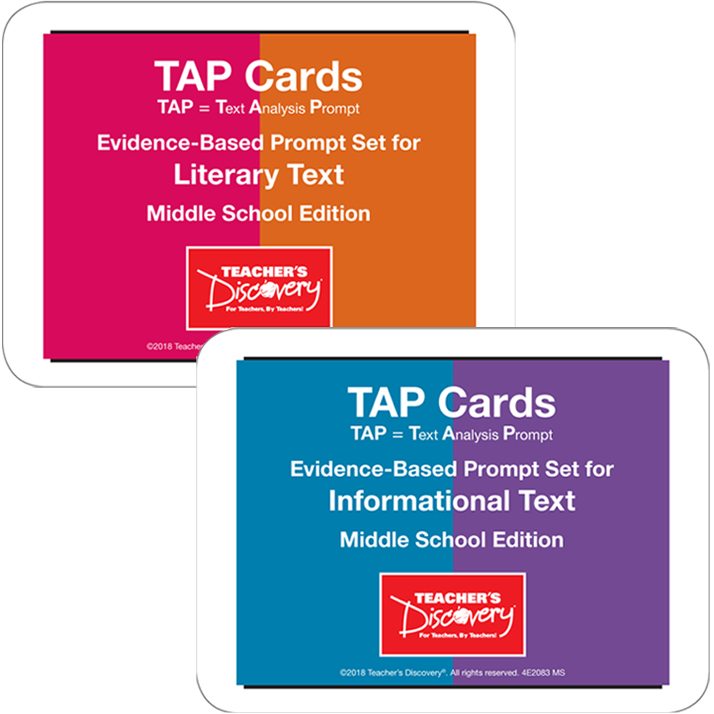 TAP Cards: Informational Text and Literary Text Card Sets for Middle School