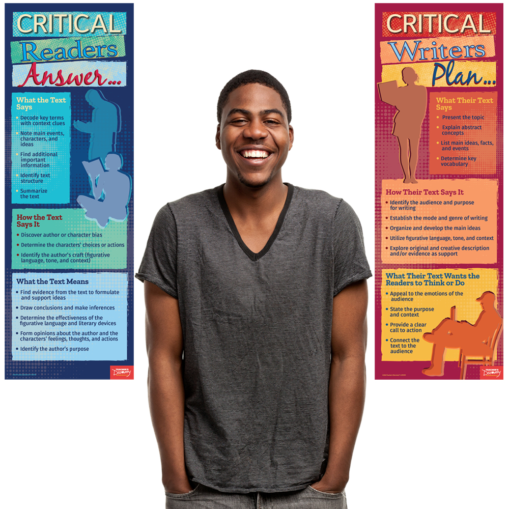 Critical Readers and Writers Skinny Poster Set