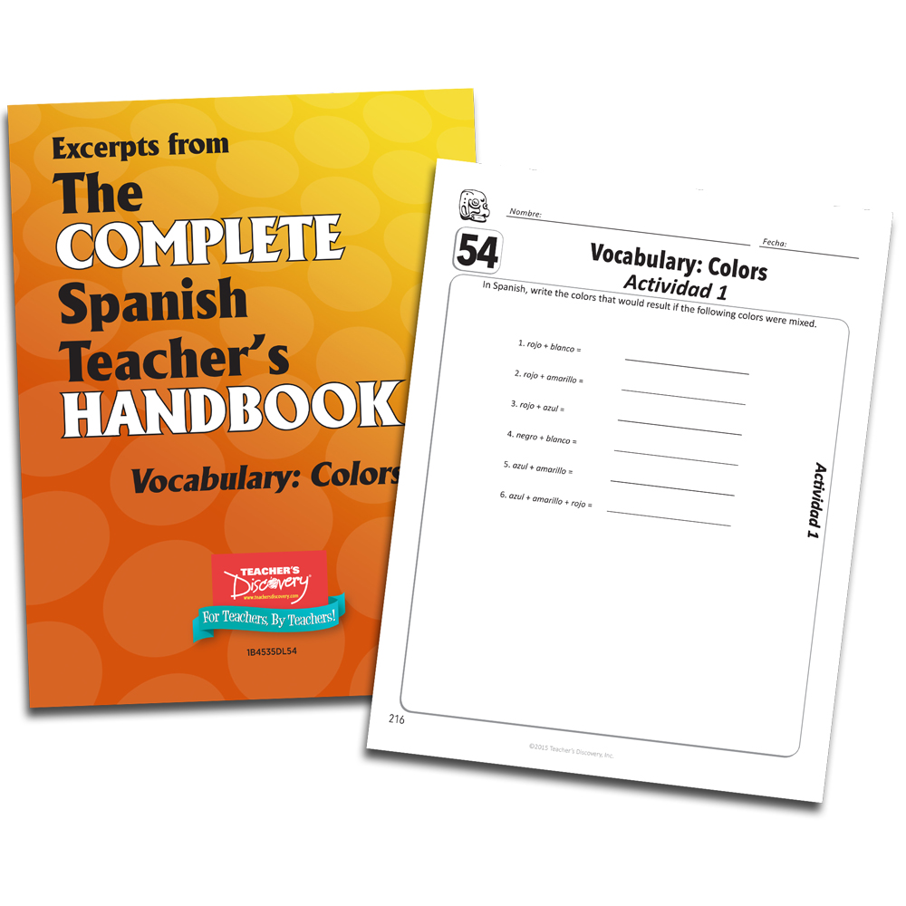 Vocabulary: Colors - Spanish - Book Excerpt Download